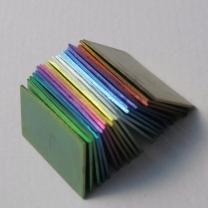 Anodised titanium