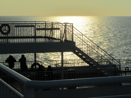 The INDULGENCE of a sunset at sea.