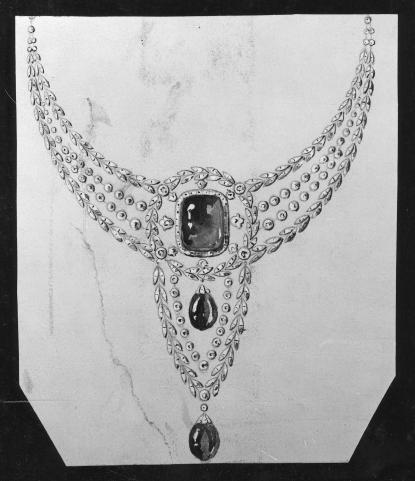 Drawing by Carl Fabergé (1846-1920) © KIK-IRPA, Brussels (Belgium)