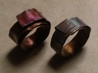 Eyecandy rings, but how to make them wearable and protect the patina?