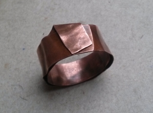 This is the one that was purple (I refolded it a bit) - the patina was not sealed, so off it went...